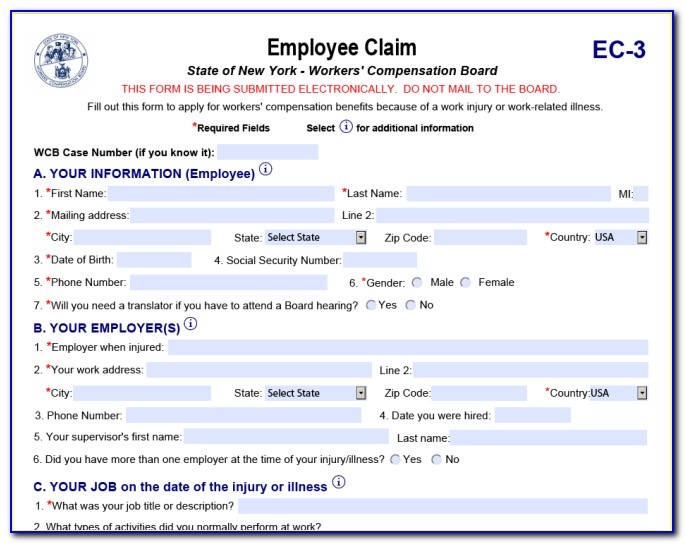 Workers Compensation Claim Forms Nsw