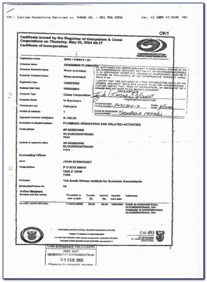Workmen's Compensation Forms South Africa