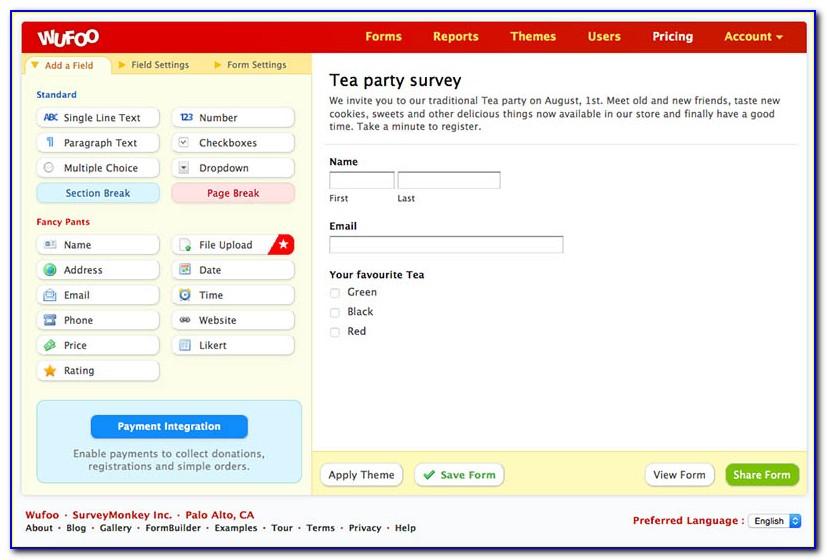 Wufoo Online Forms