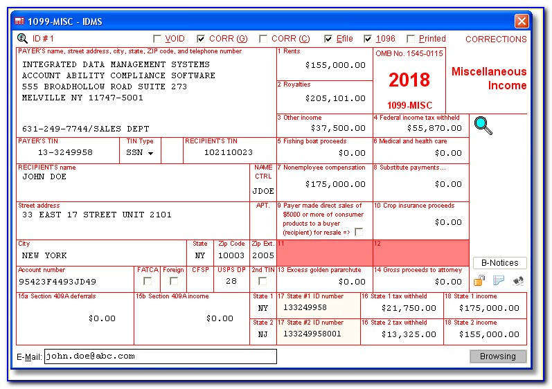 2017 Form 1099 Misc Pdf