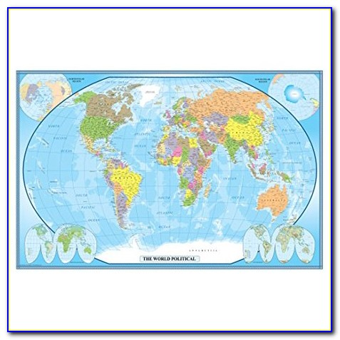 24x36 Ham Radio World Map 2018 Edition