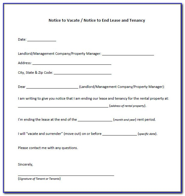 30 Day Eviction Notice Form Free Download