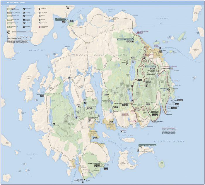 Acadia National Park Waterproof Trail Map