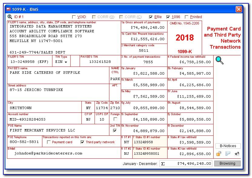 Adams 1099 Tax Form Software