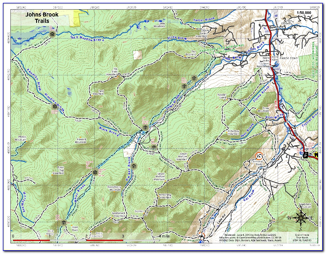 Adirondack Hike Map