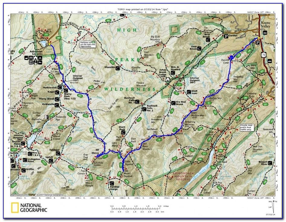 Adirondack Hiking Map Pdf