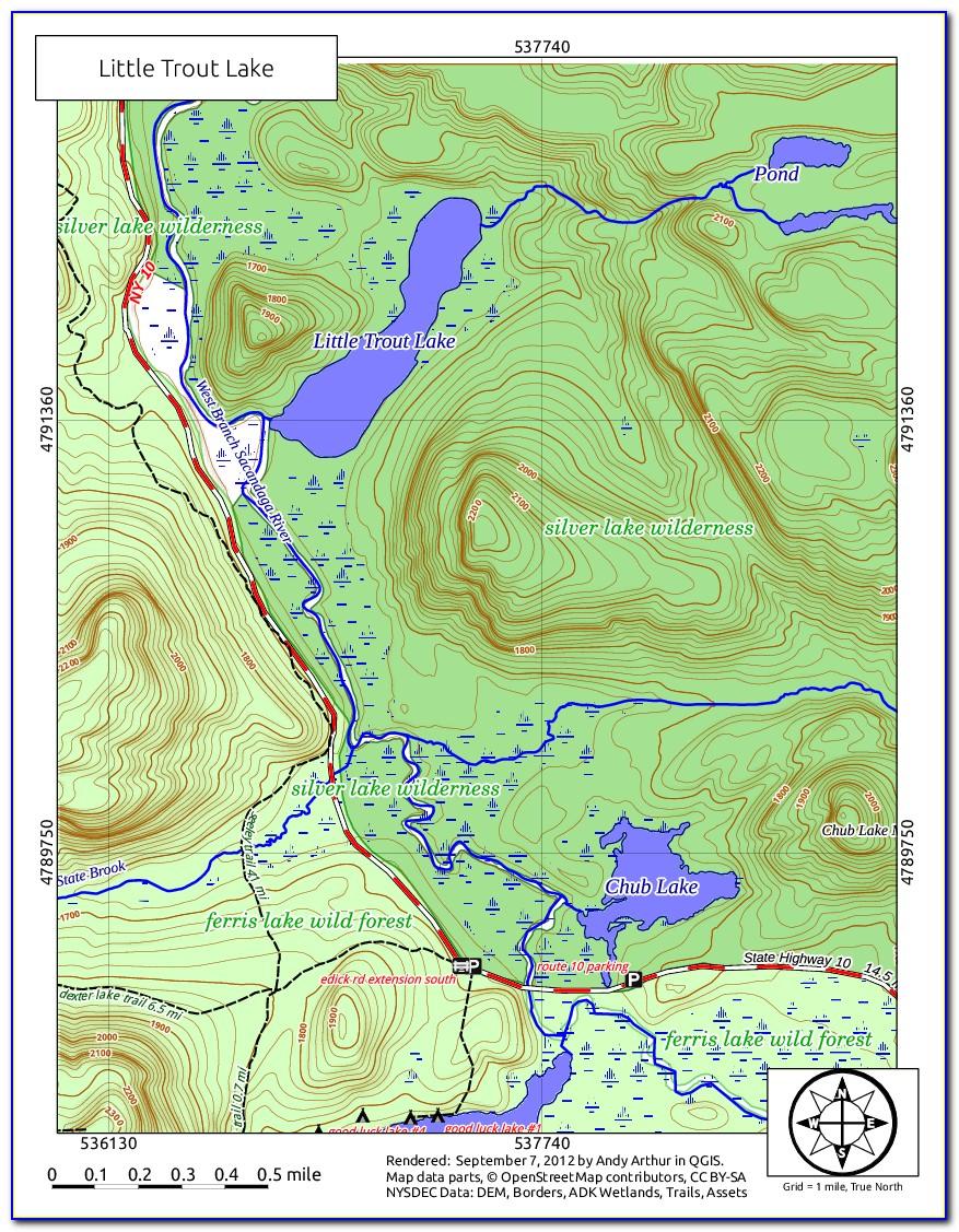 Adirondack Loj Trail Map
