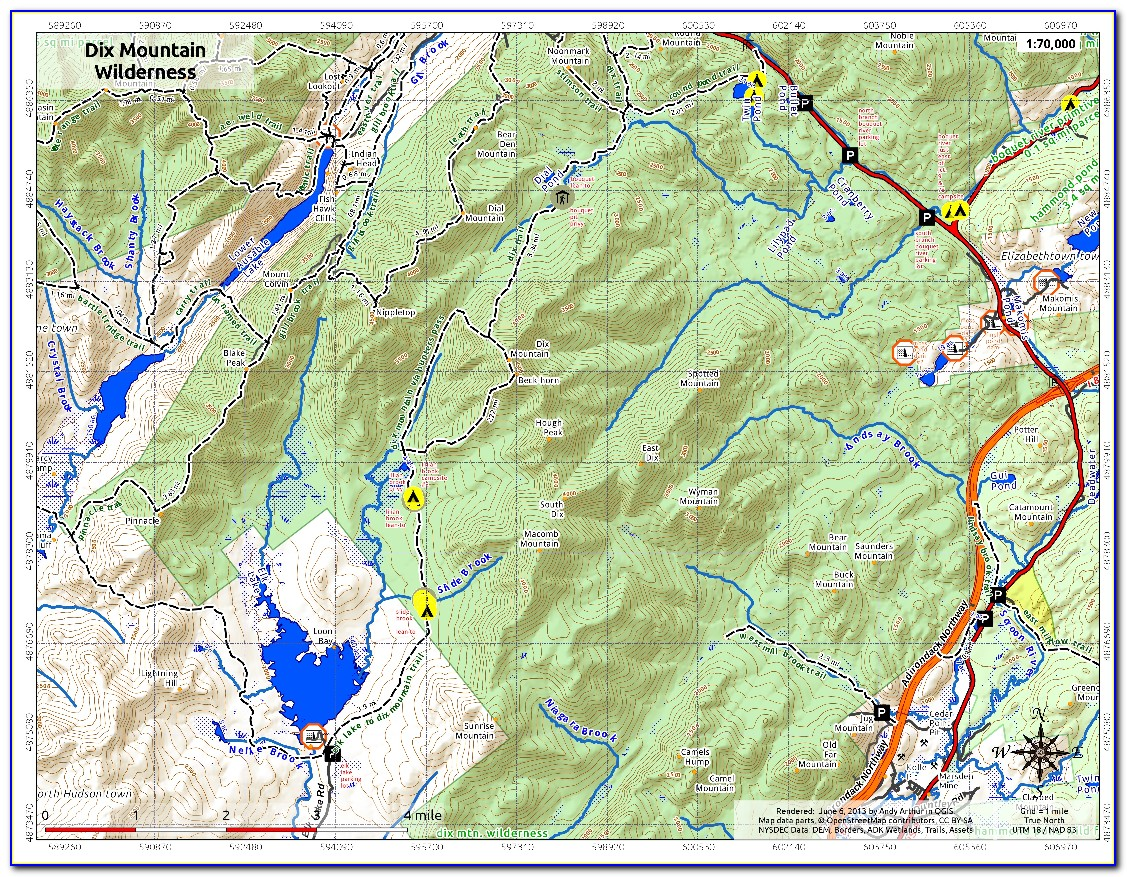 Adirondack Snowmobile Trail Map