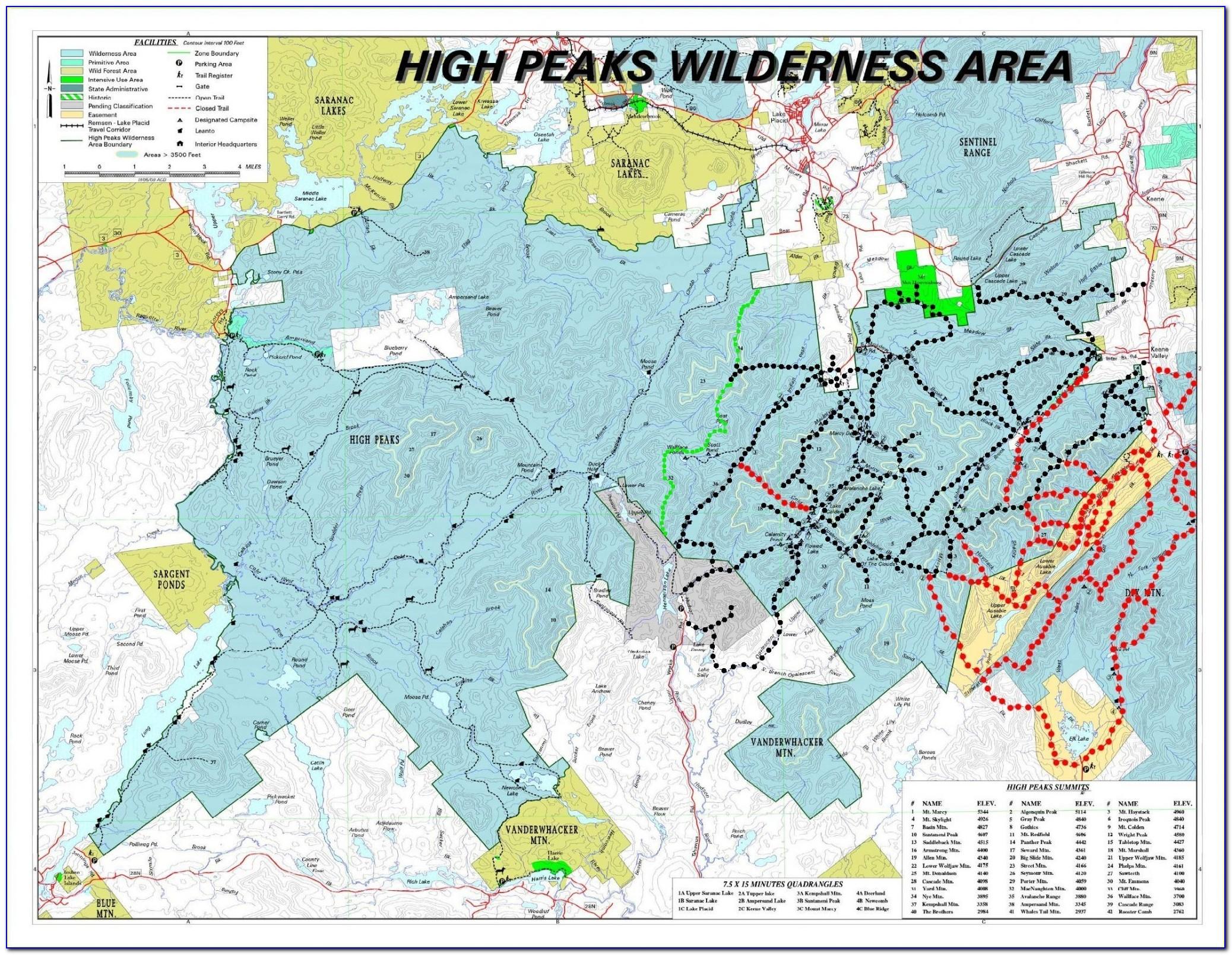 Adirondack Trail Maps Hikes
