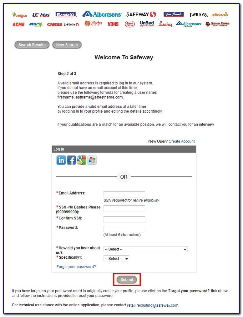 Albertsons Safeway Job Application