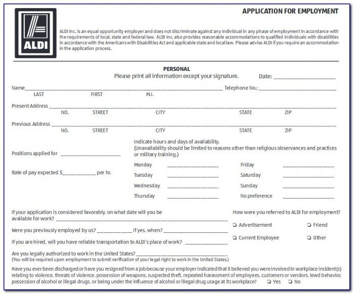Aldi Jobs Uk Application Form