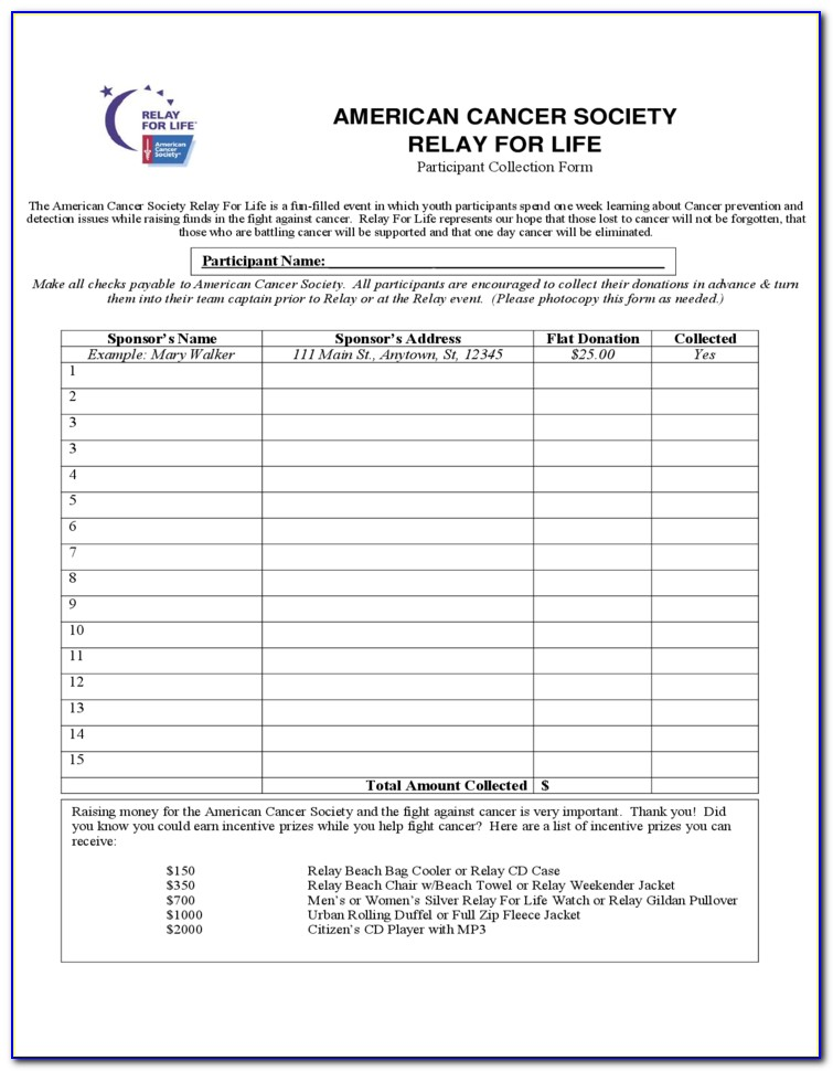 American Cancer Society Memorial Donation Form