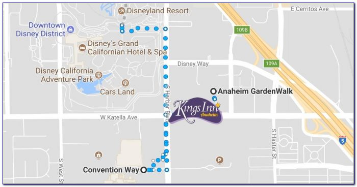 Anaheim Convention Hotel Map