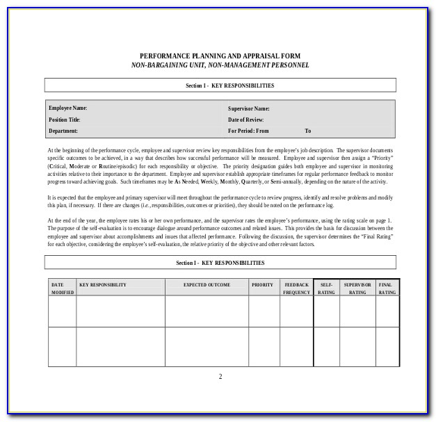 Annual Performance Appraisal Form Pdf