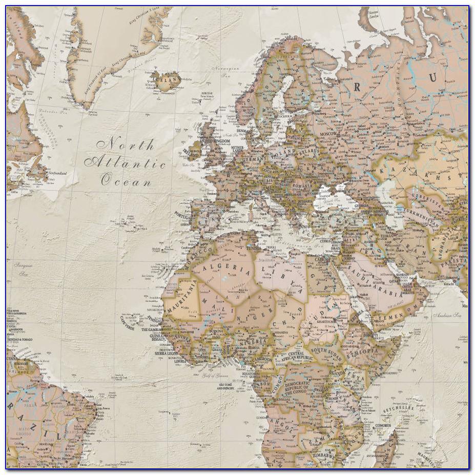 Antique Maps Framed Art