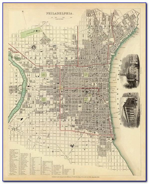 Antique Maps Philadelphia
