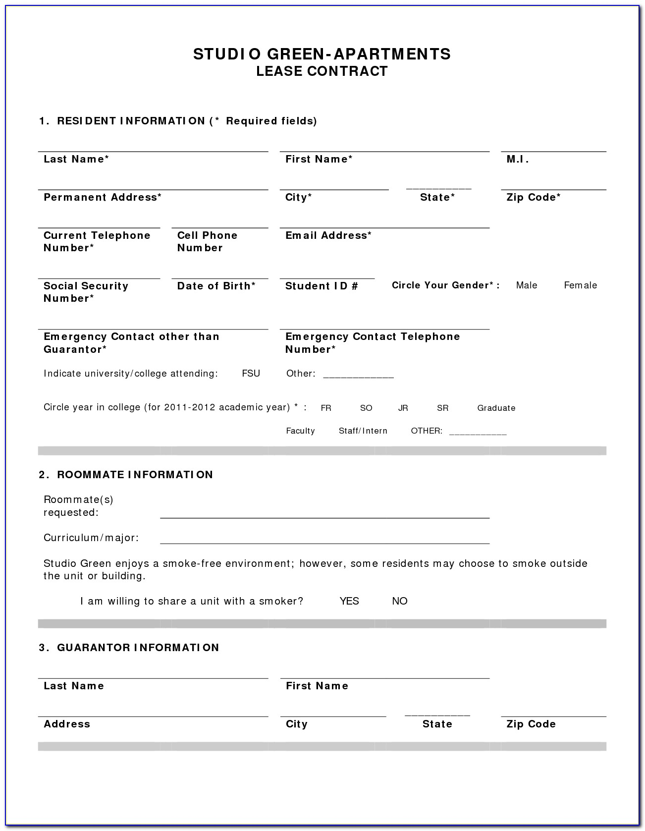 Apartment Rental Lease Forms