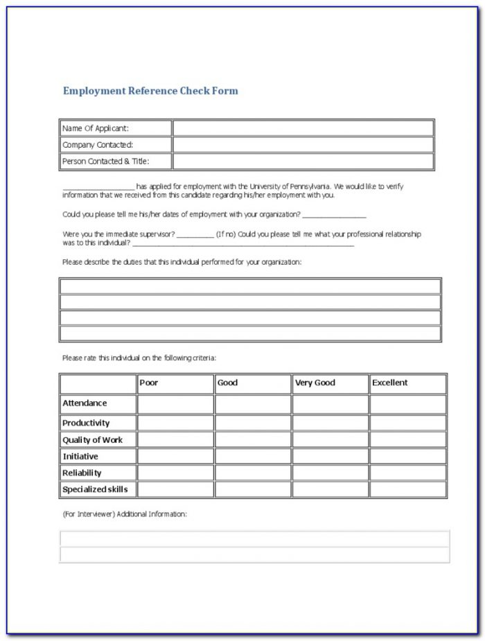 Apartment Rental Reference Check Form