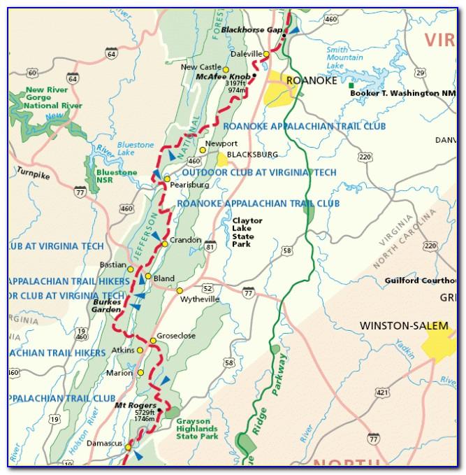 Appalachian Trail Map Maine
