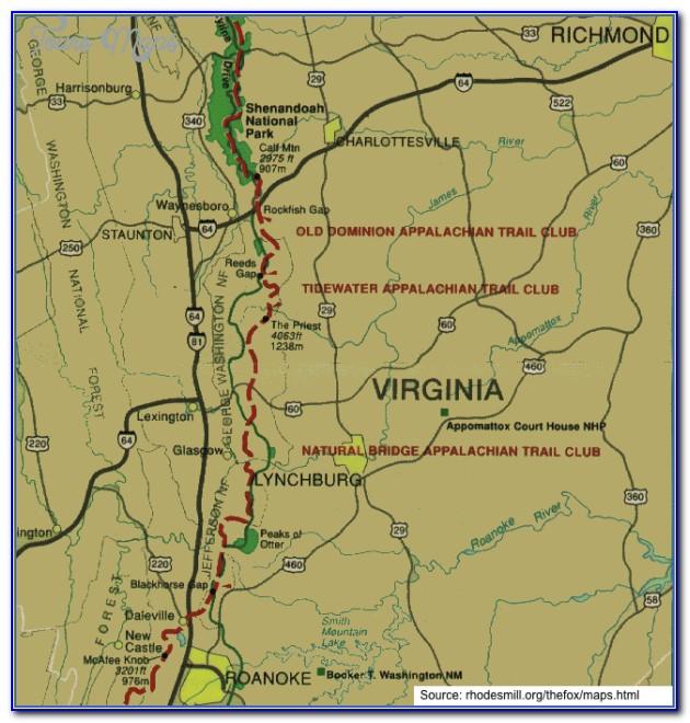 Appalachian Trail Map Pa
