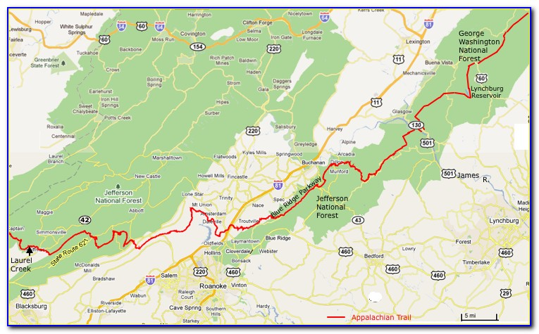Appalachian Trail North Carolina Map