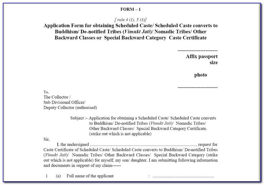Application Form For Admission In Jawahar Navodaya Vidyalaya
