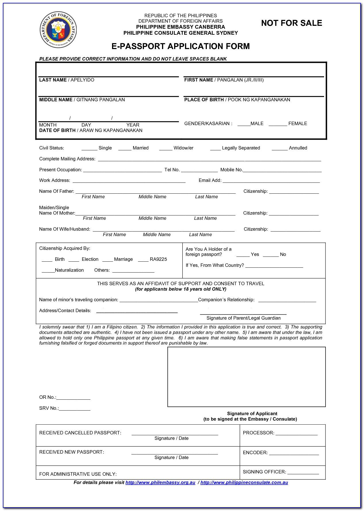 Application Form Nz Passport Renewal