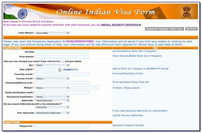 Applying For Indian Visa