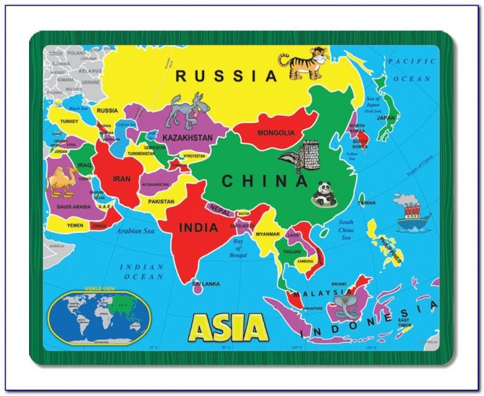 Asia Map Jigsaw Puzzle