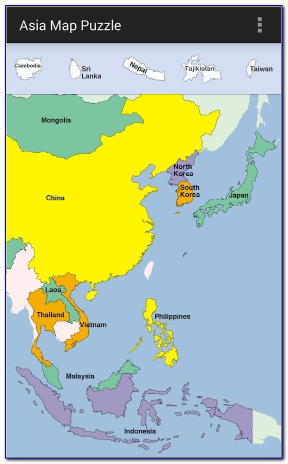 Asia Map Puzzle Apk