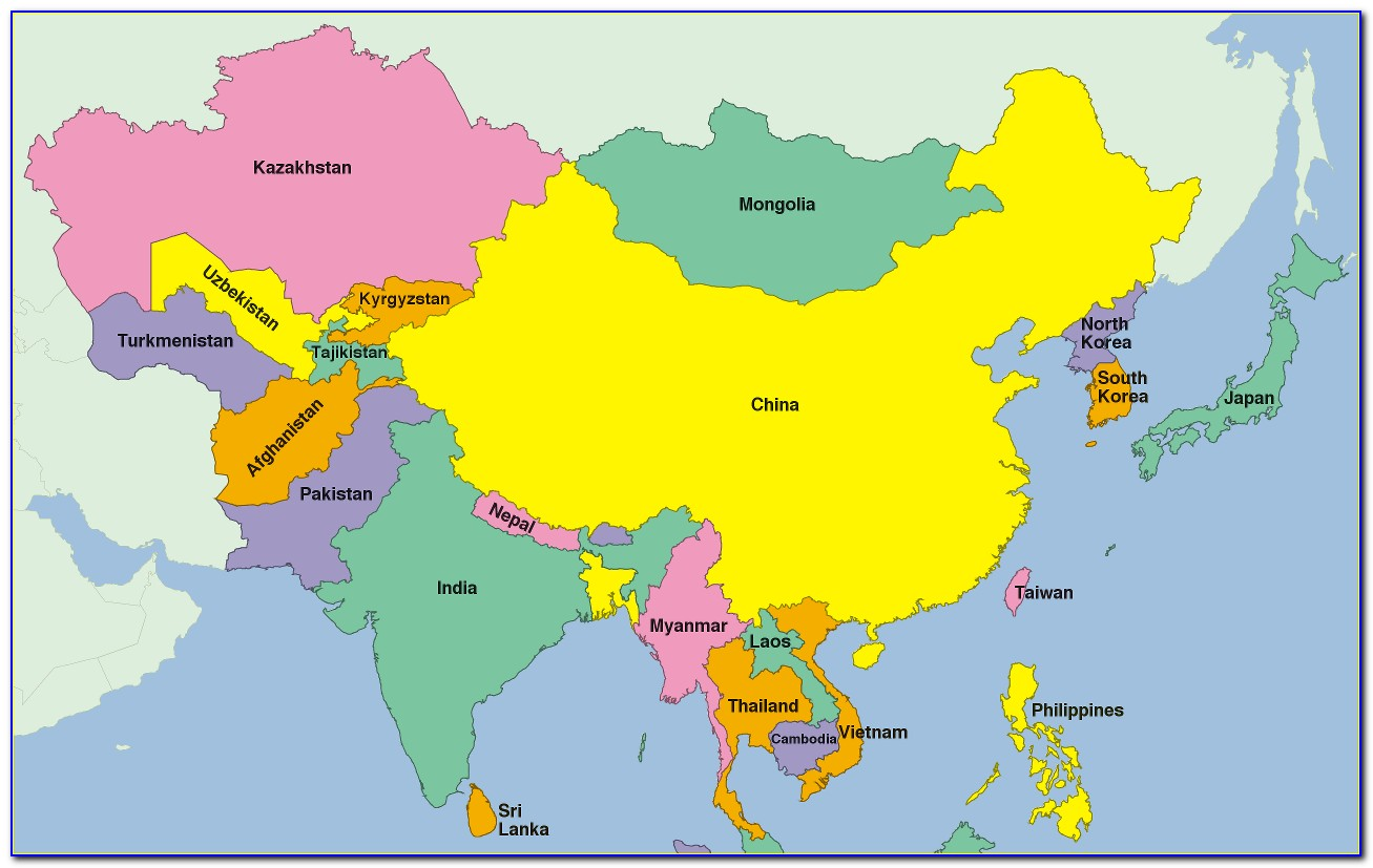Asia Puzzle Map Montessori