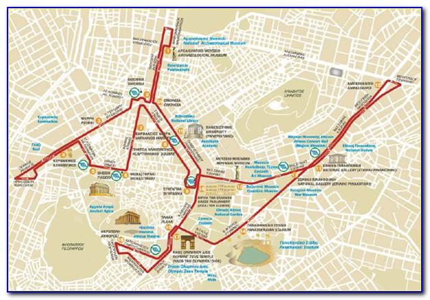 Athens Hop On Hop Off Bus Tour Map