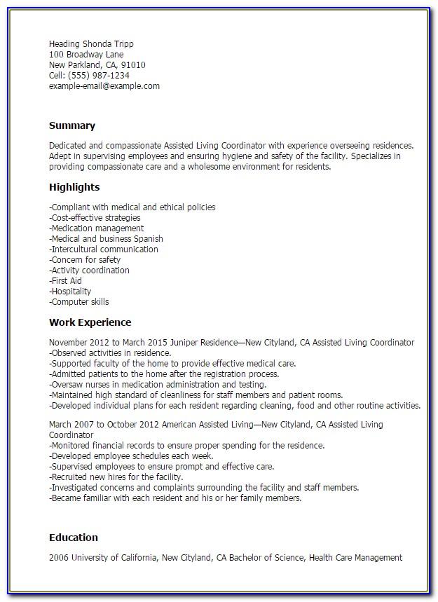 Atria Senior Living Job Application