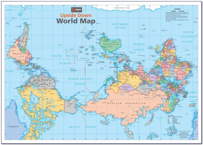 Australian World Map Upside Down