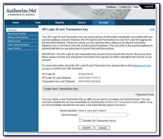 Authorize.net Invoice Payment Form