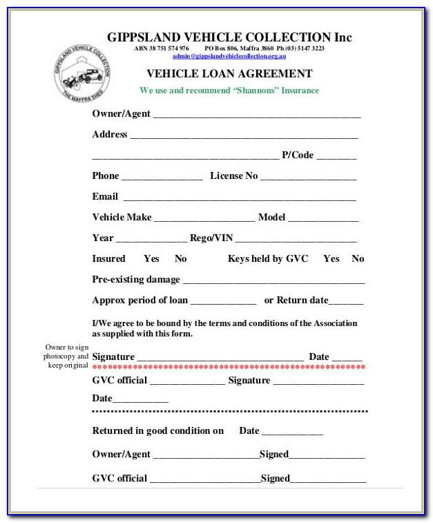 Auto Finance Agreement Form