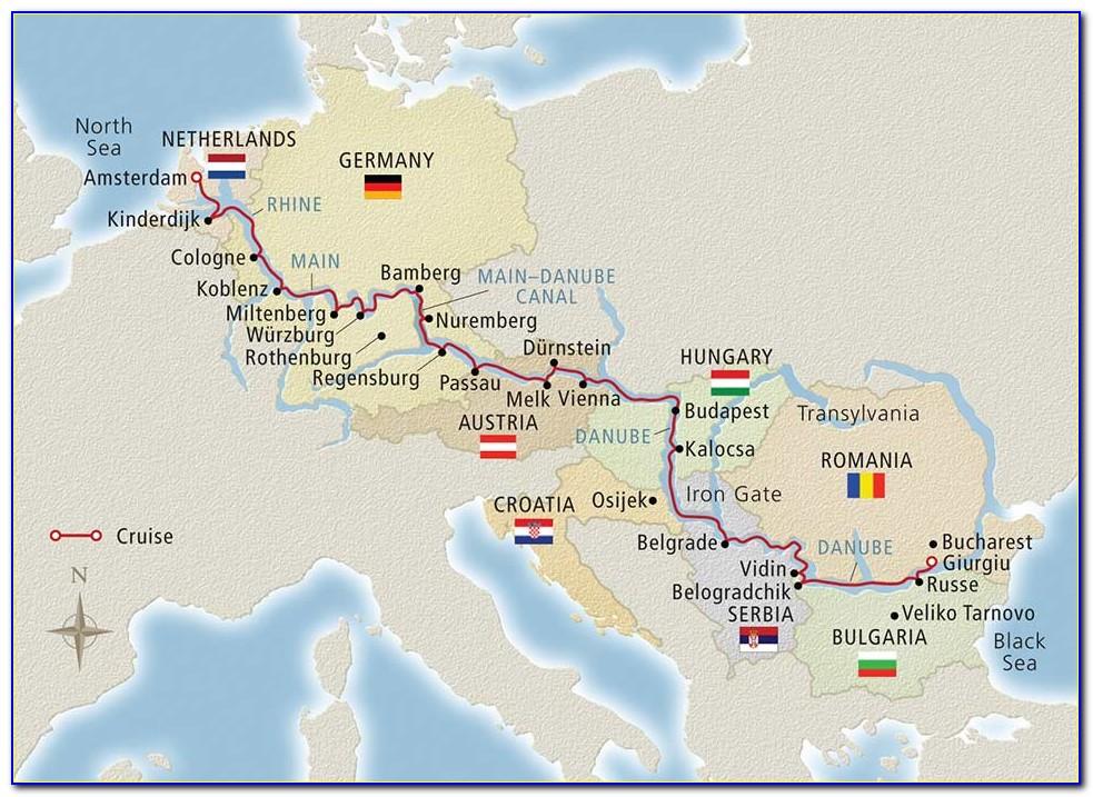 Avalon Danube River Cruise Map