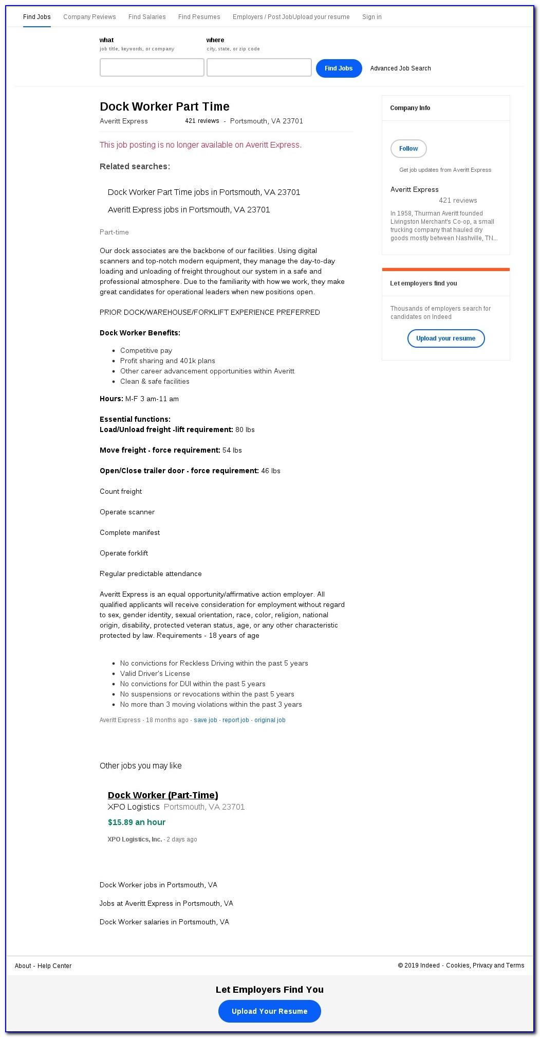Averitt Express Job Application