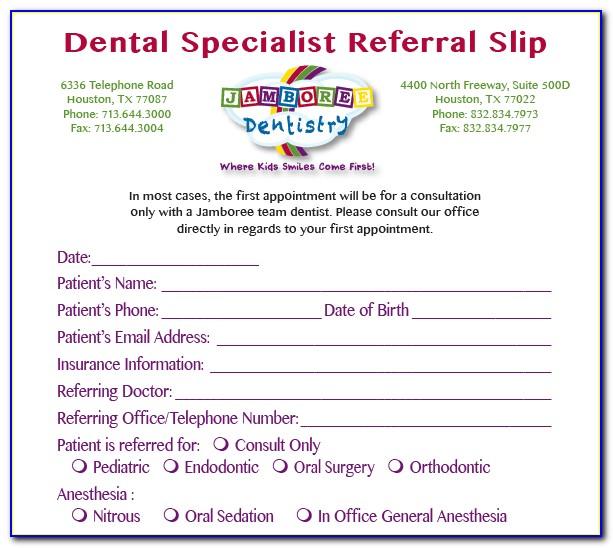 Avon Orthodontic Referral Form