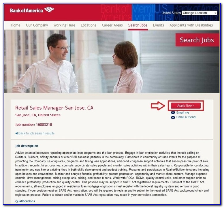 Bank Of America Job Openings