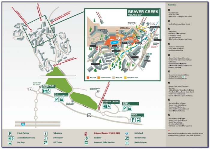 Beaver Creek Hotel Map