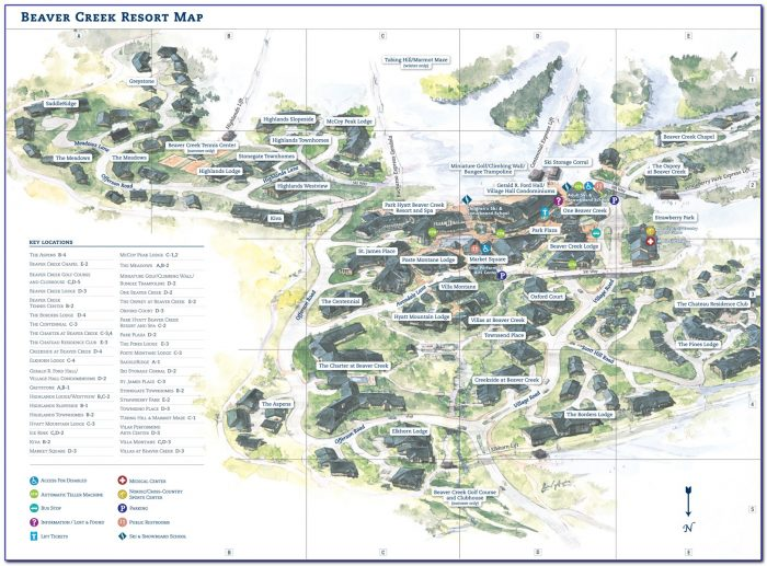 Beaver Creek Lodging Map