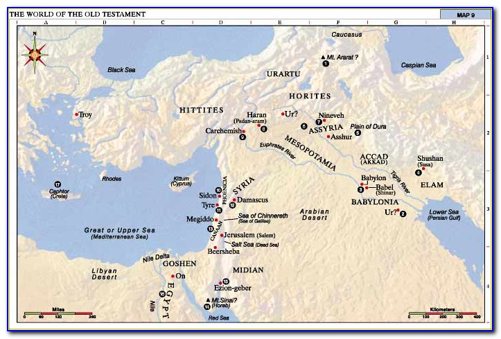 Bible Map Old Testament