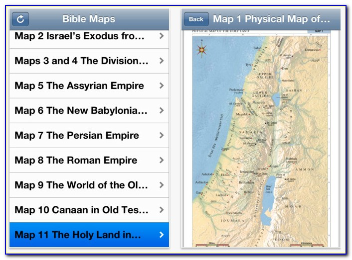 Bible Maps Ios App