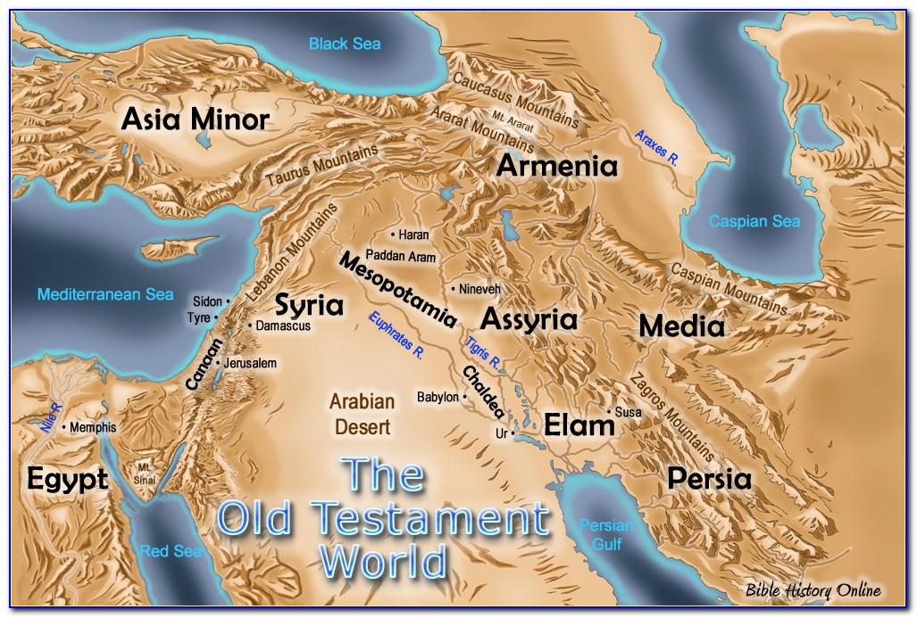 Bible Maps Old Testament Joshua
