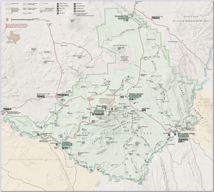Big Bend National Park Jeep Trail Map