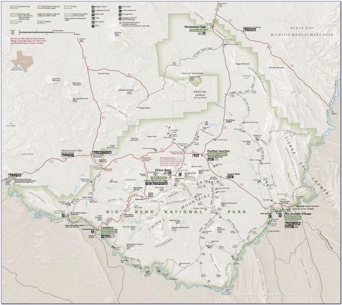 Big Bend National Park Lost Mine Trail Map