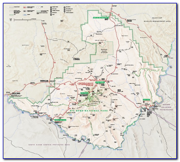 Big Bend National Park South Rim Trail Map