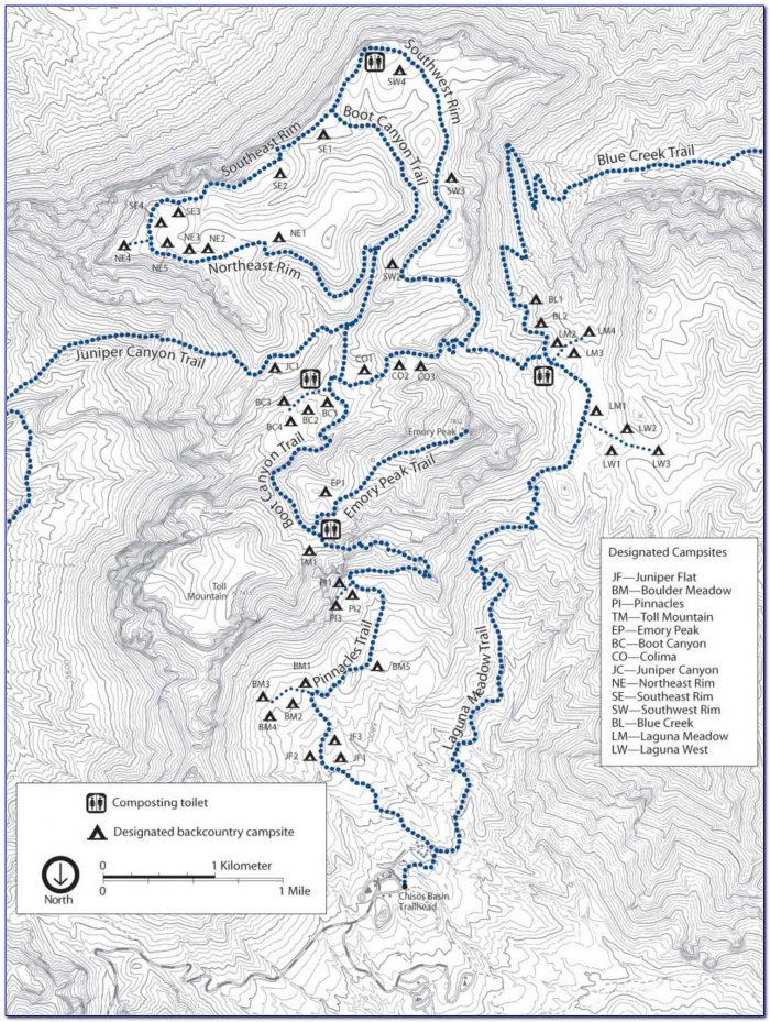 Big Bend National Park Trail Map Pdf