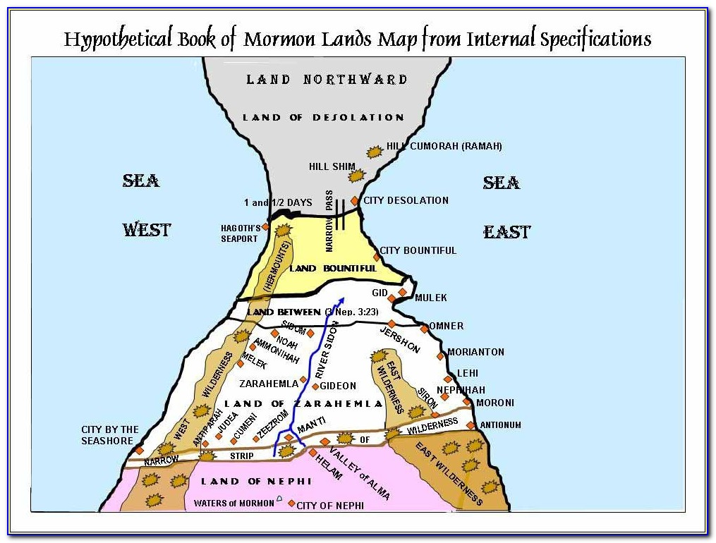 Book Of Mormon Geography Maps